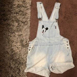 Vintage Mickey Overall Shorts